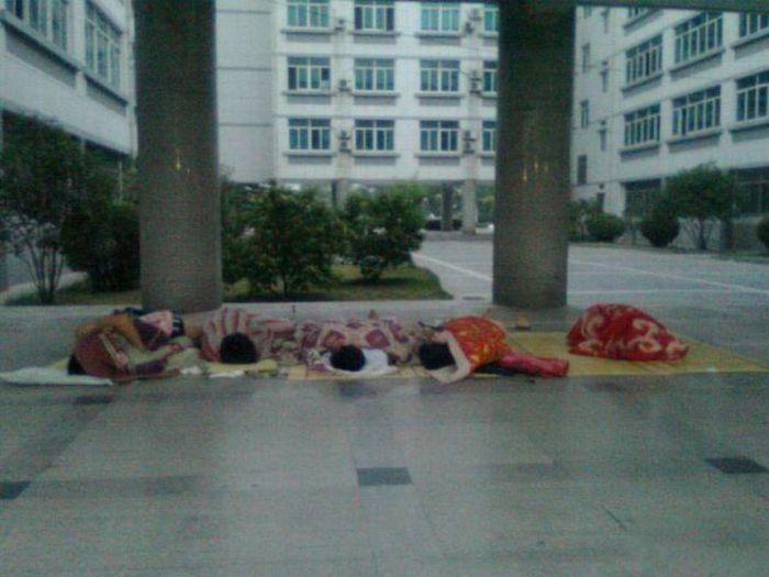 Como os estudantes chineses enfrentam a onda de calor 02