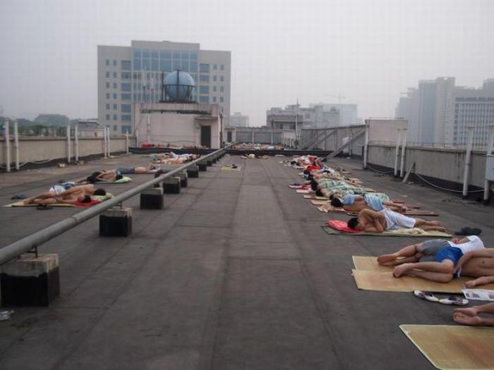 Como os estudantes chineses enfrentam a onda de calor 03