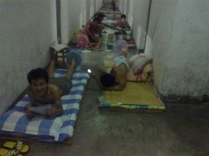 Como os estudantes chineses enfrentam a onda de calor 06