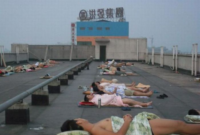 Como os estudantes chineses enfrentam a onda de calor 07