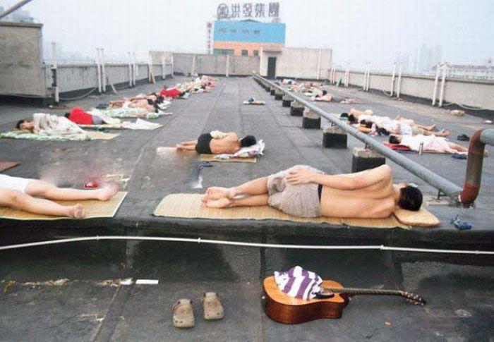 Como os estudantes chineses enfrentam a onda de calor 12