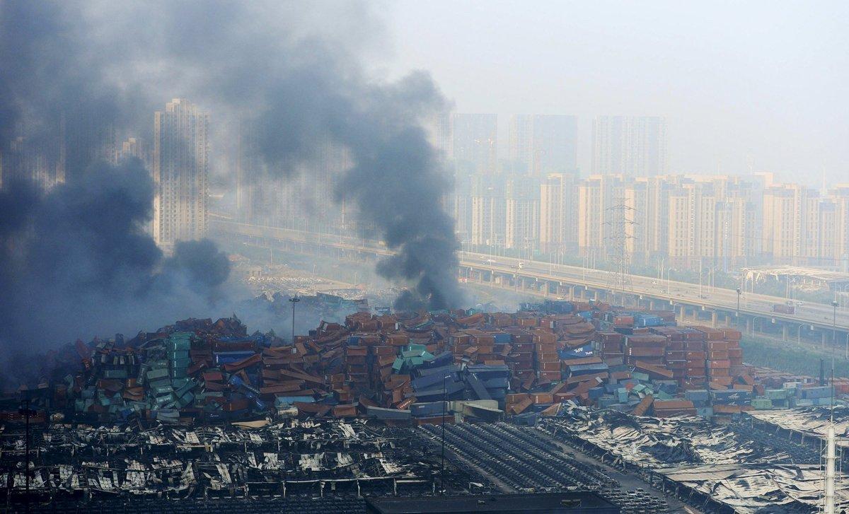 Explosões de Tianjin: a devastação do décimo maior porto do mundo 03