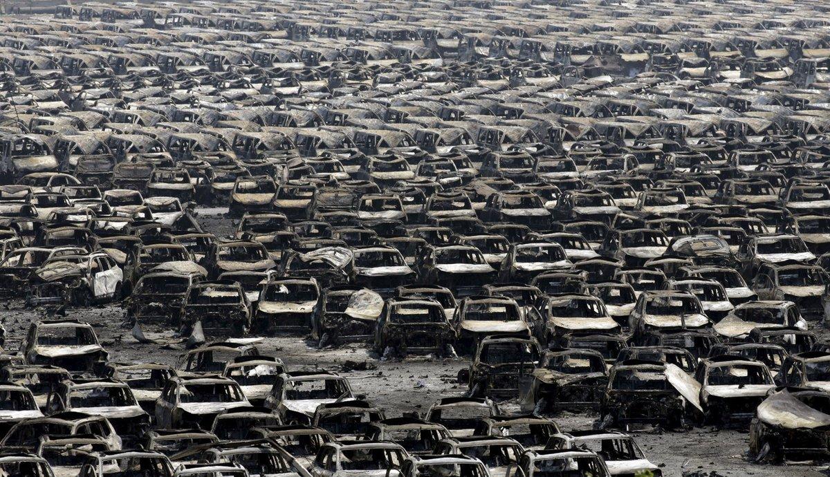 Explosões de Tianjin: a devastação do décimo maior porto do mundo 05