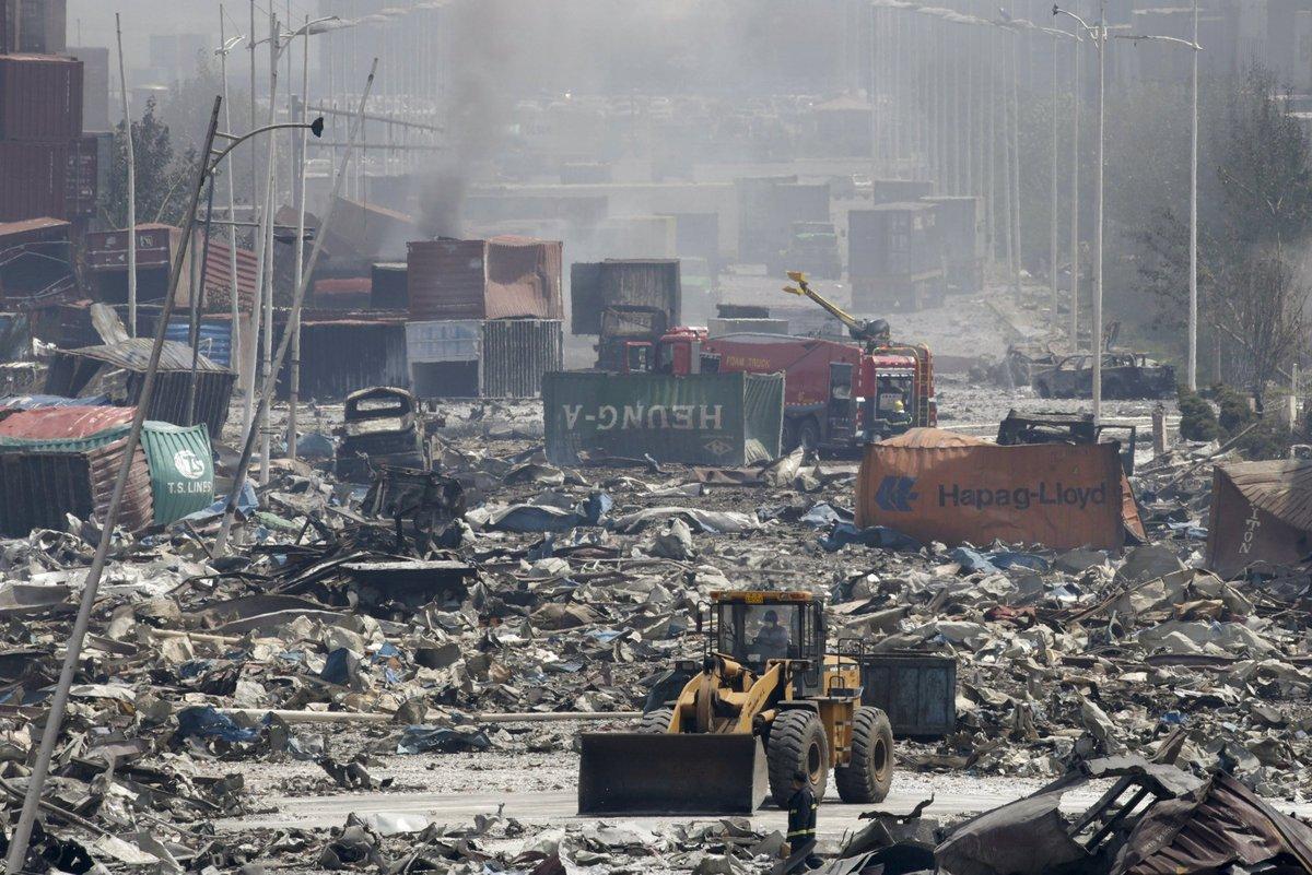 Explosões de Tianjin: a devastação do décimo maior porto do mundo 11