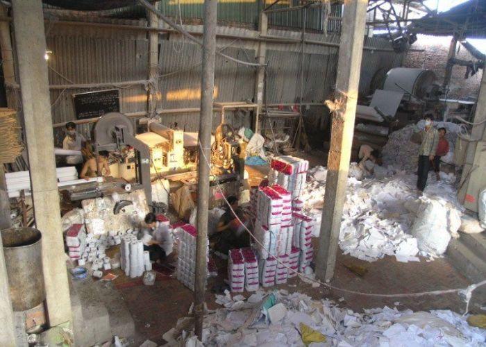 Fábrica de papel higiênico na China 21