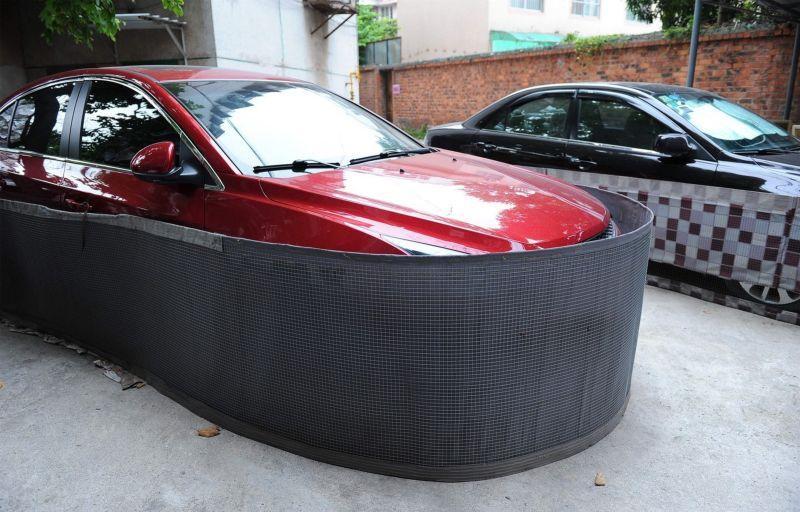 Saiba o que levou os motoristas desta cidade chinesa a tampar assim a seus carros 02