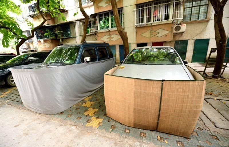 Saiba o que levou os motoristas desta cidade chinesa a tampar assim a seus carros 05