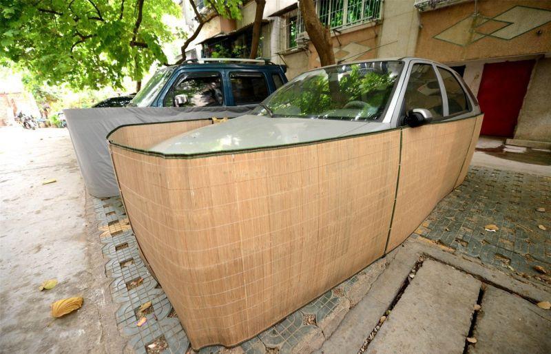 Saiba o que levou os motoristas desta cidade chinesa a tampar assim a seus carros 07