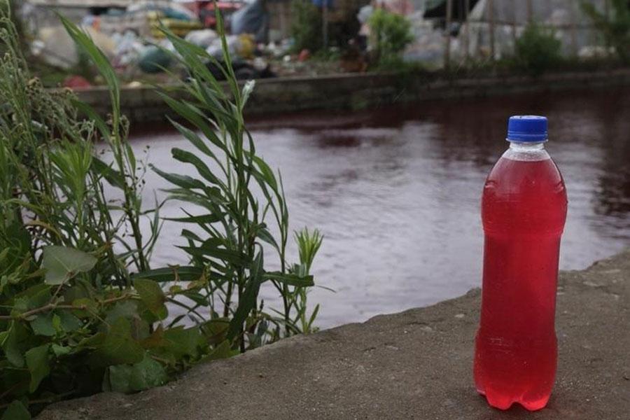 Rio na China fica misteriosamente vermelho da noite para o dia 09
