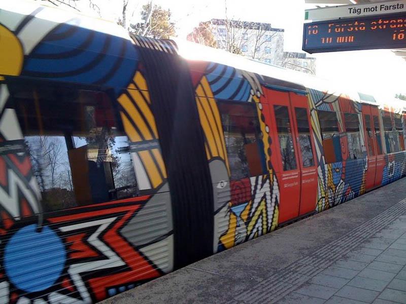 Metrô de Estocolmo: a galeria de arte mais longa do mundo 14