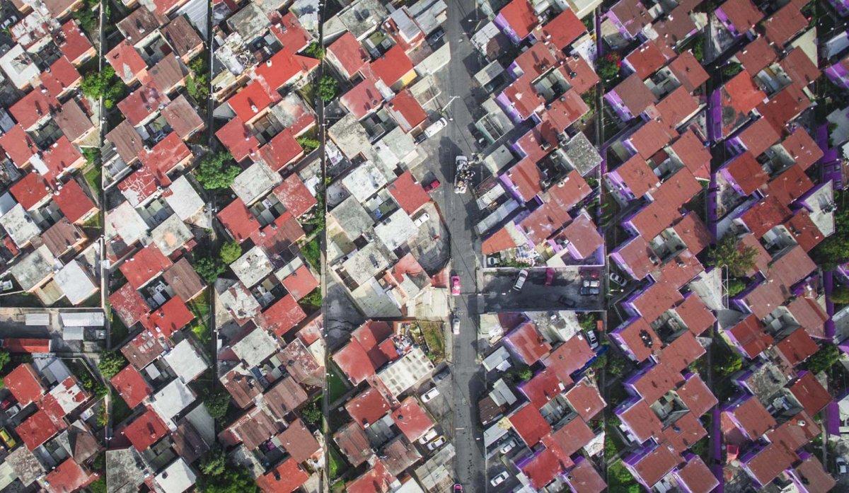 Um drone capturou essas fotos chocantes da desigualdade na maior cidade do México 06