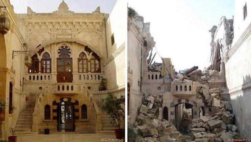 Fotografias do antes e depois revelam o que Guerra fez à maior cidade da Síria 05