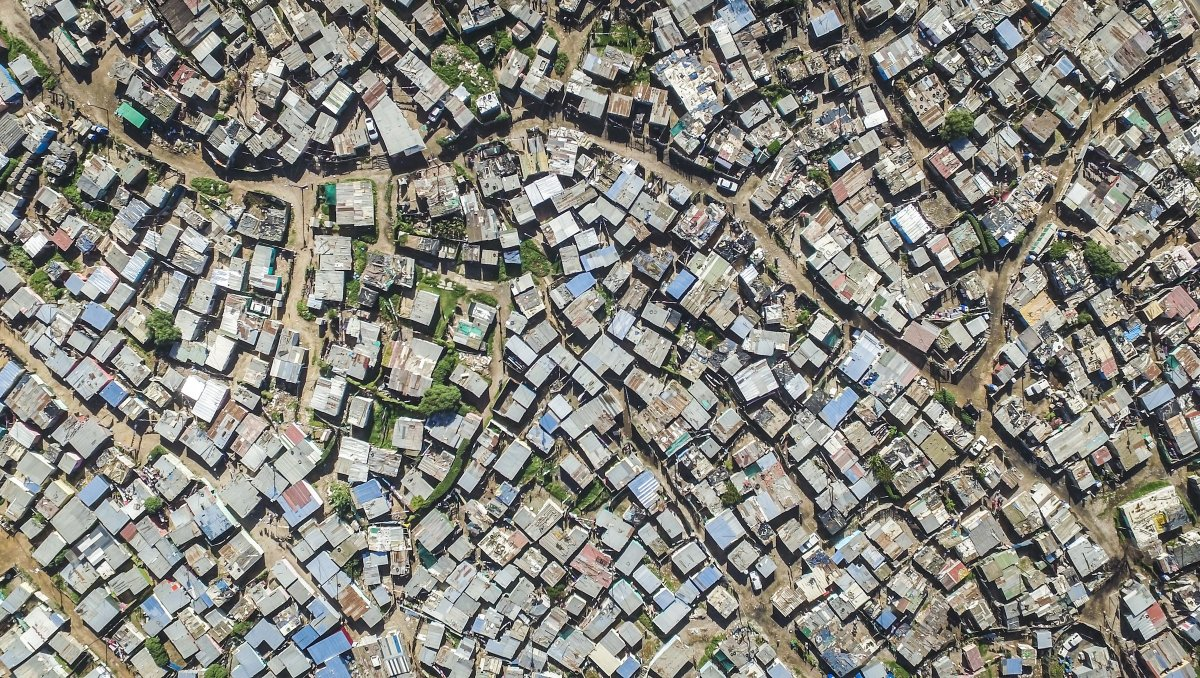 As linhas que dividem ricos e pobres captadas por um drone 02