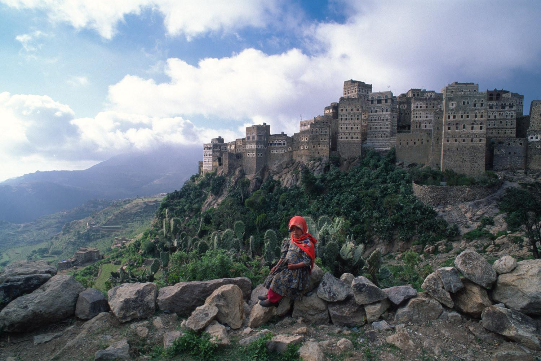 Al Hajjarah, a cidade da Idade M�dia com edif�cios de v�rios andares 01