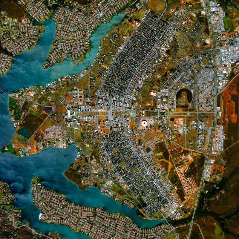10 surpreendentes cidades planejadas à vista de pássaro - Brasília