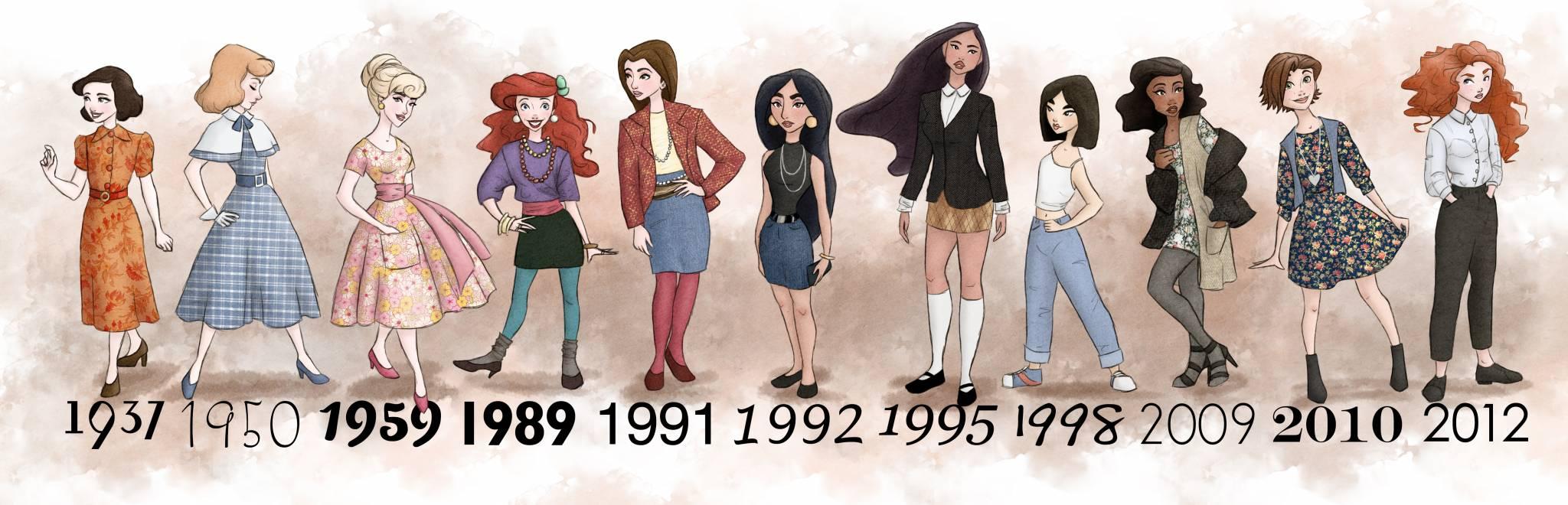 A evolução das princesas da Disney