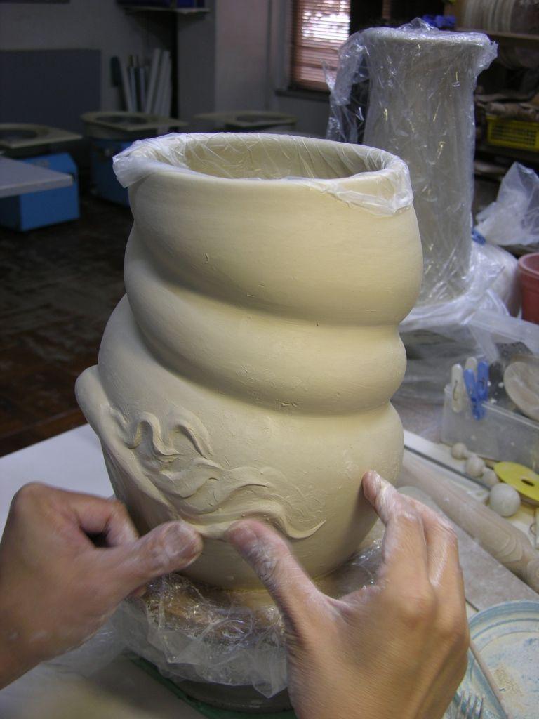 Como faz: vaso drag�o chin�s 04