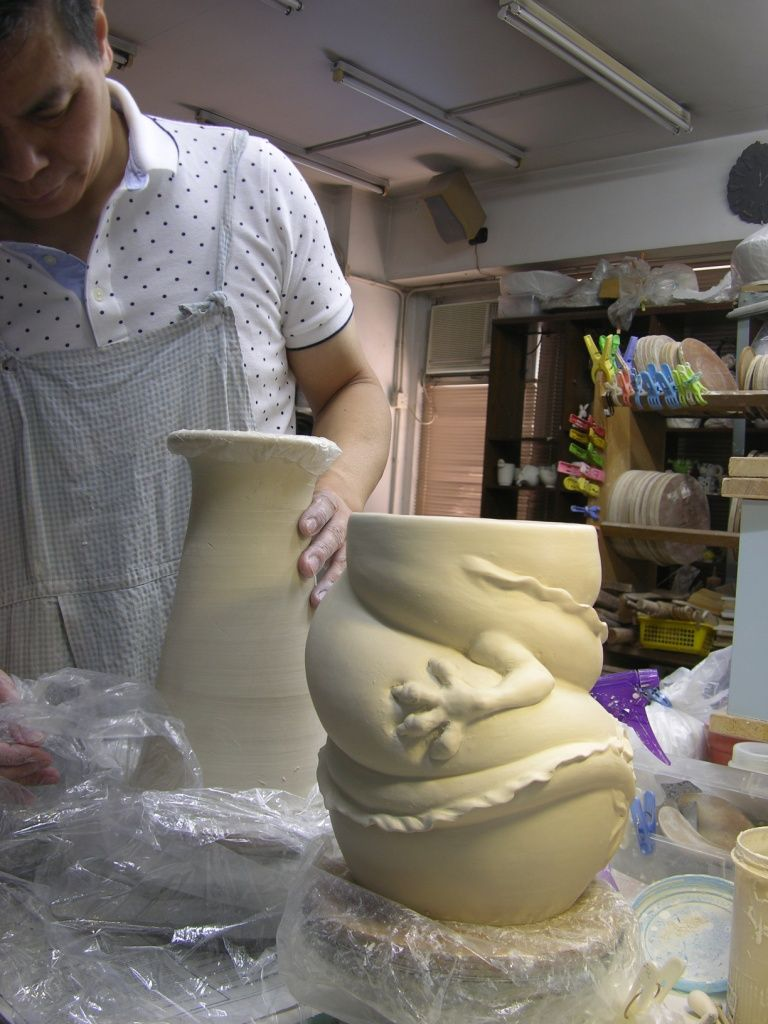 Como faz: vaso dragão chinês 05