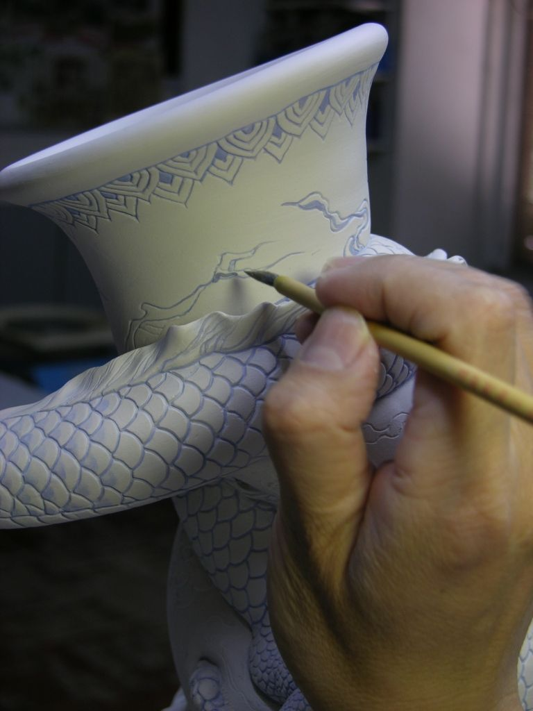 Como faz: vaso drag�o chin�s 21