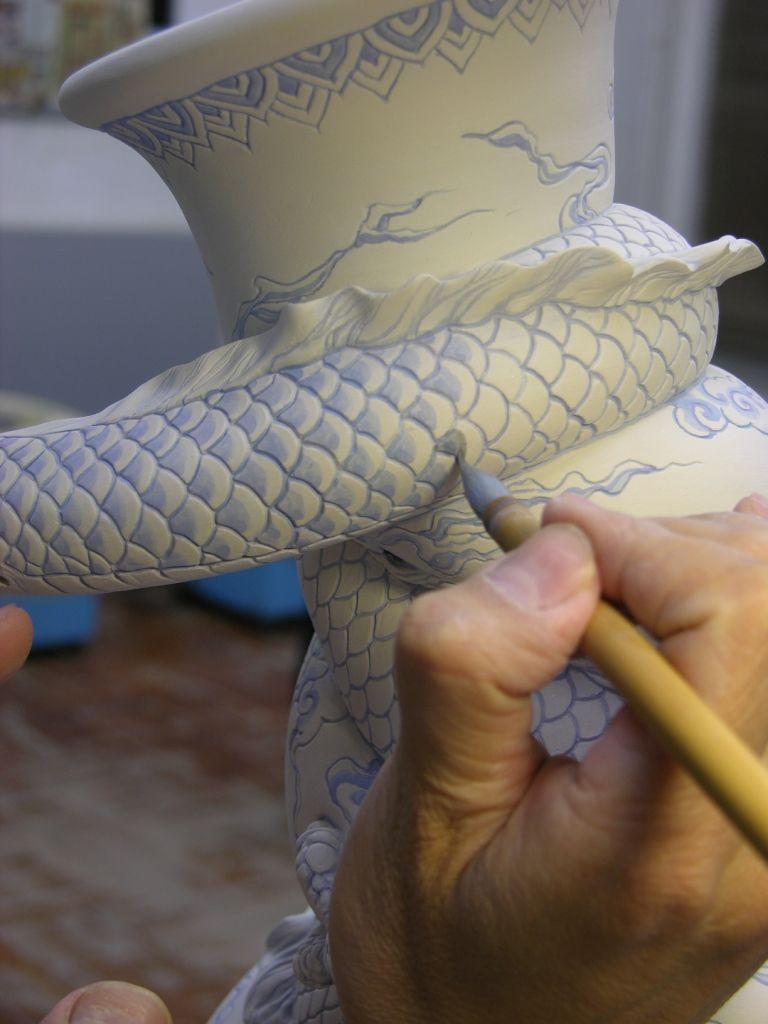 Como faz: vaso drag�o chin�s 22