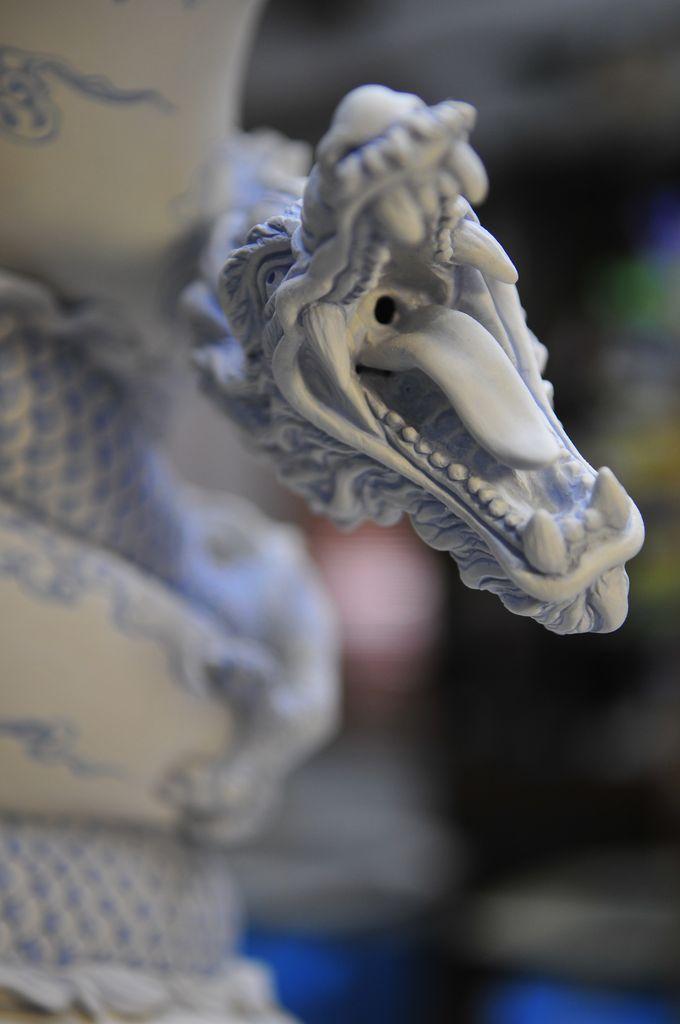 Como faz: vaso drag�o chin�s 24