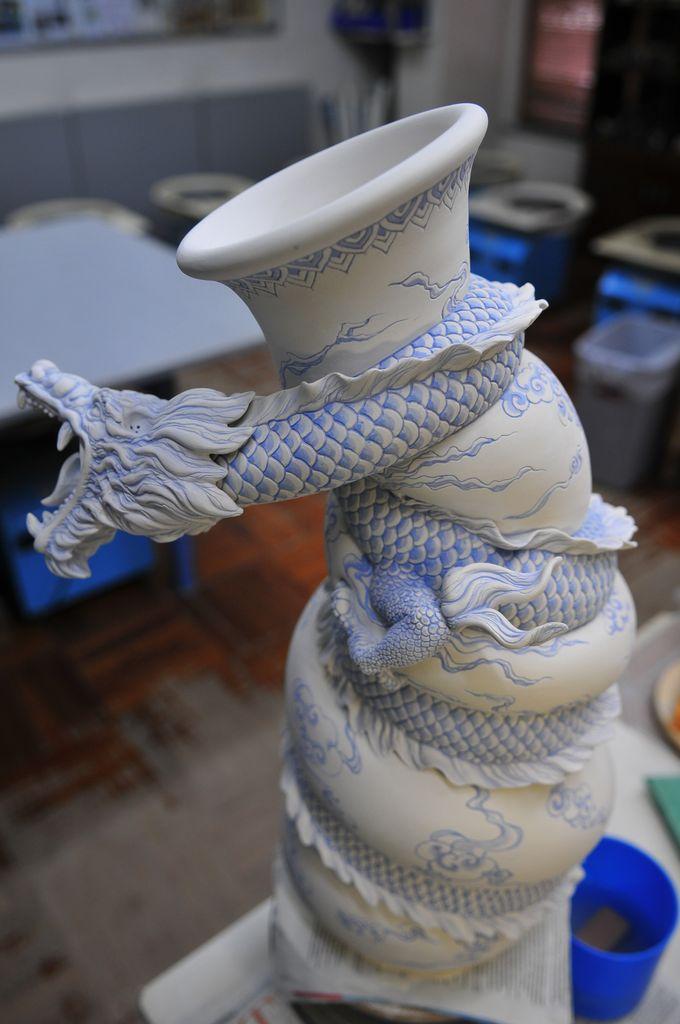 Como faz: vaso dragão chinês 26