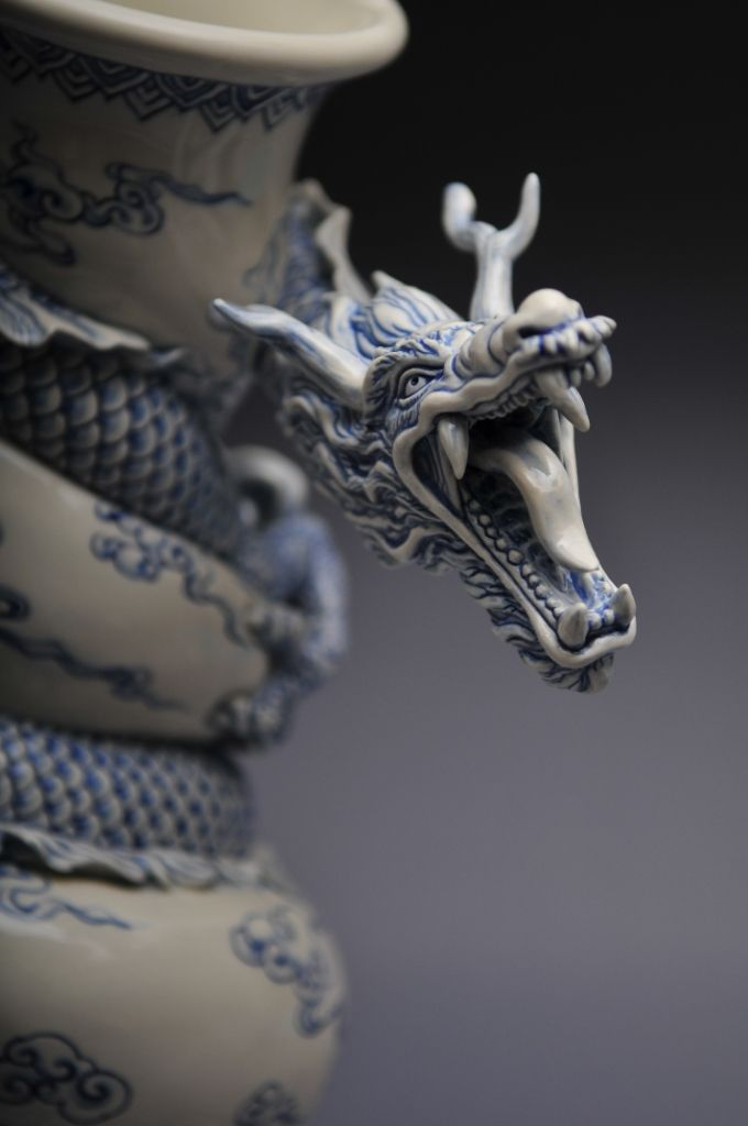 Como faz: vaso drag�o chin�s 27