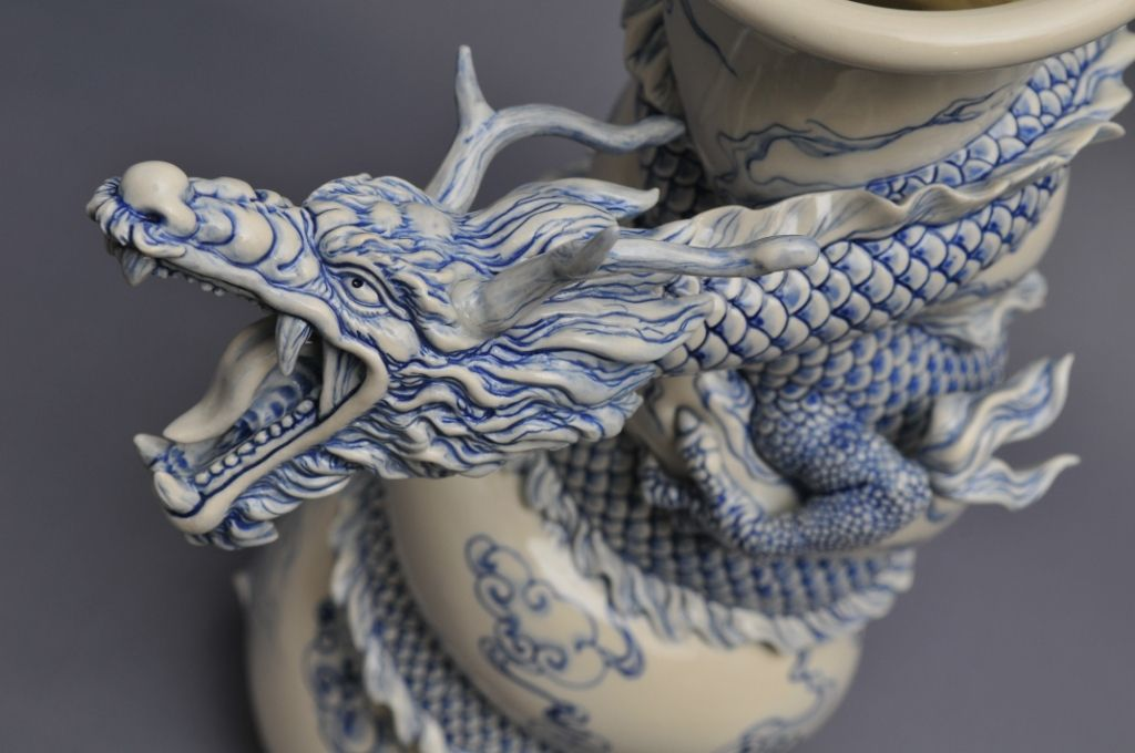 Como faz: vaso drag�o chin�s 28