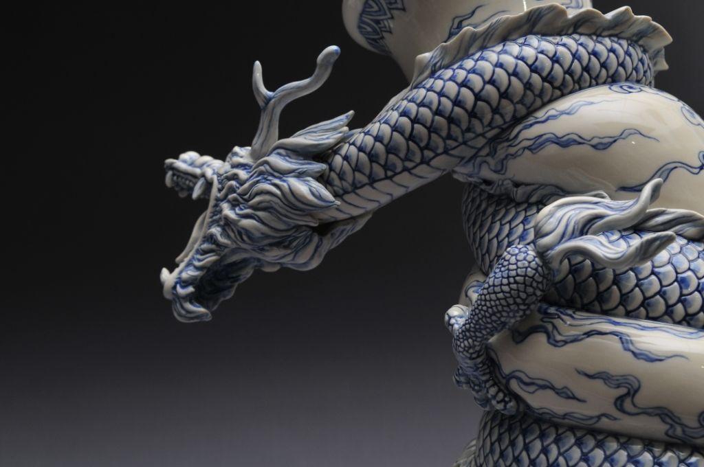 Como faz: vaso drag�o chin�s 29
