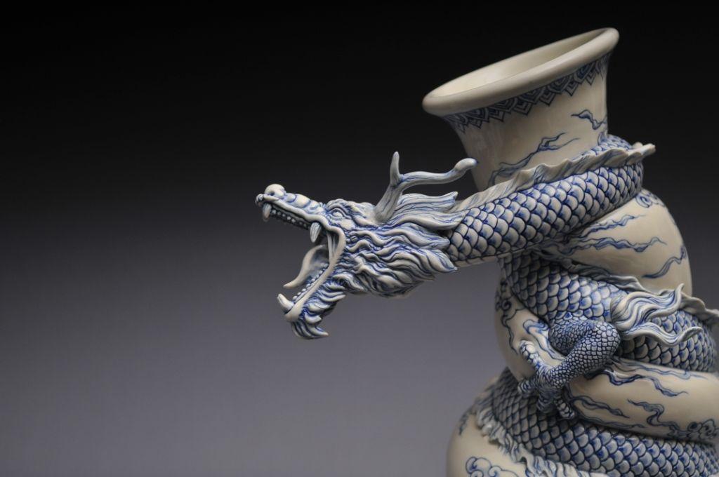 Como faz: vaso drag�o chin�s 30