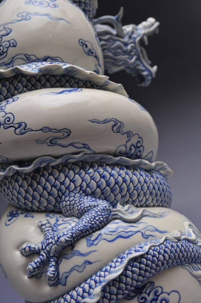 Como faz: vaso dragão chinês 31