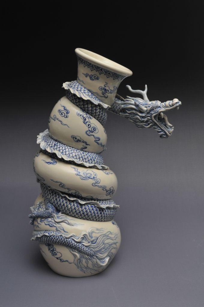 Como faz: vaso dragão chinês 32