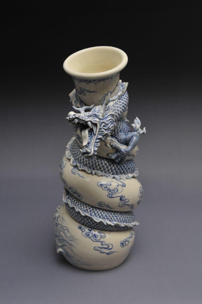 Como faz: vaso dragão chinês 33