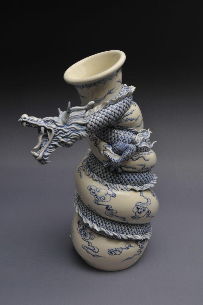 Como faz: vaso dragão chinês 34