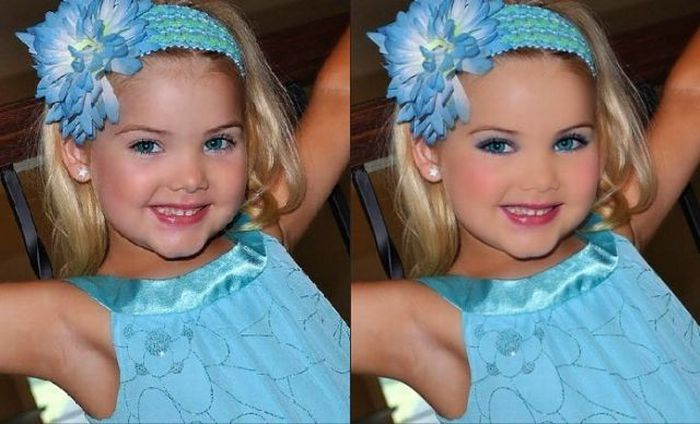 Mãe veste filha como uma boneca 33