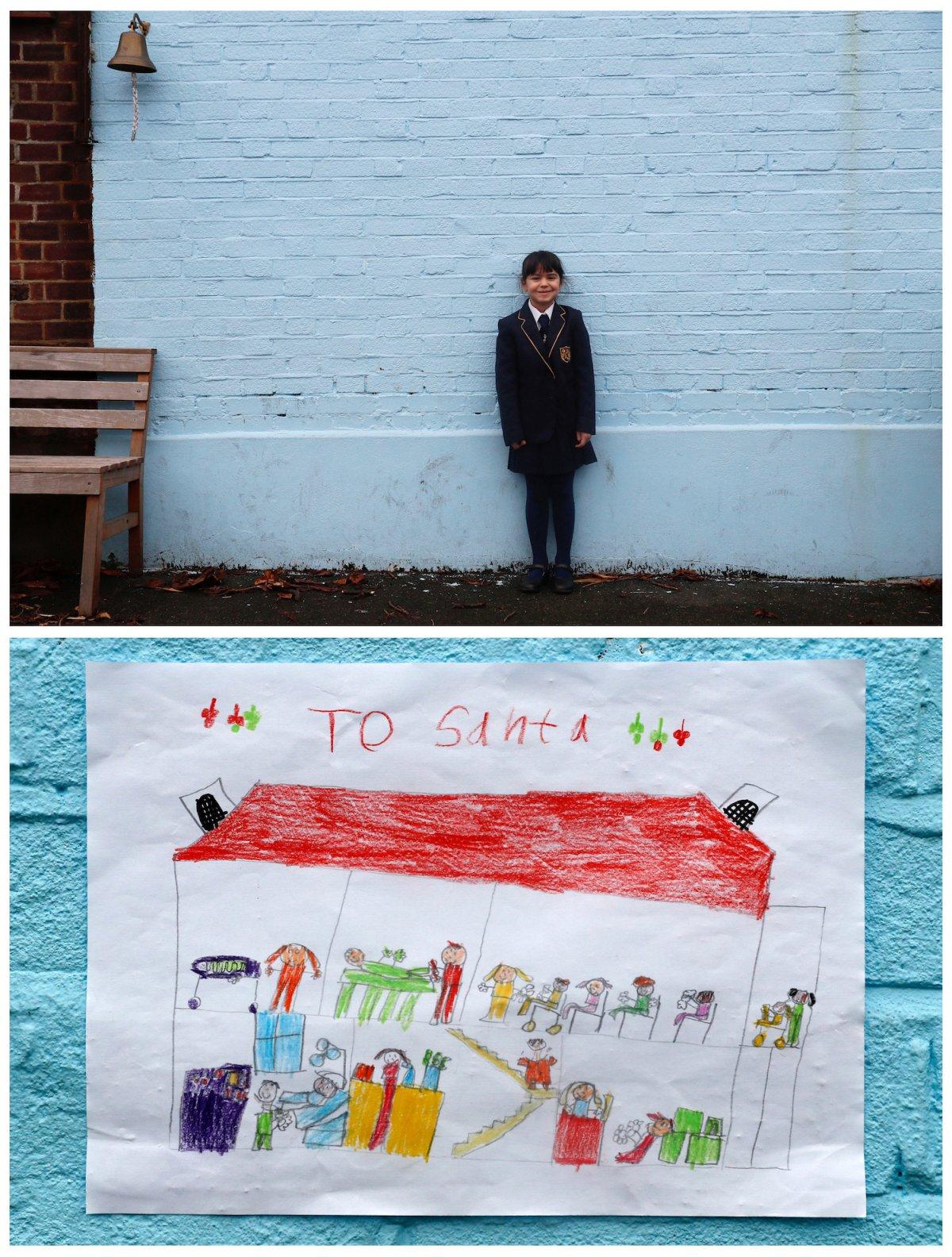 Crianças de todo o mundo desenham fotos do que querem para o Natal 07