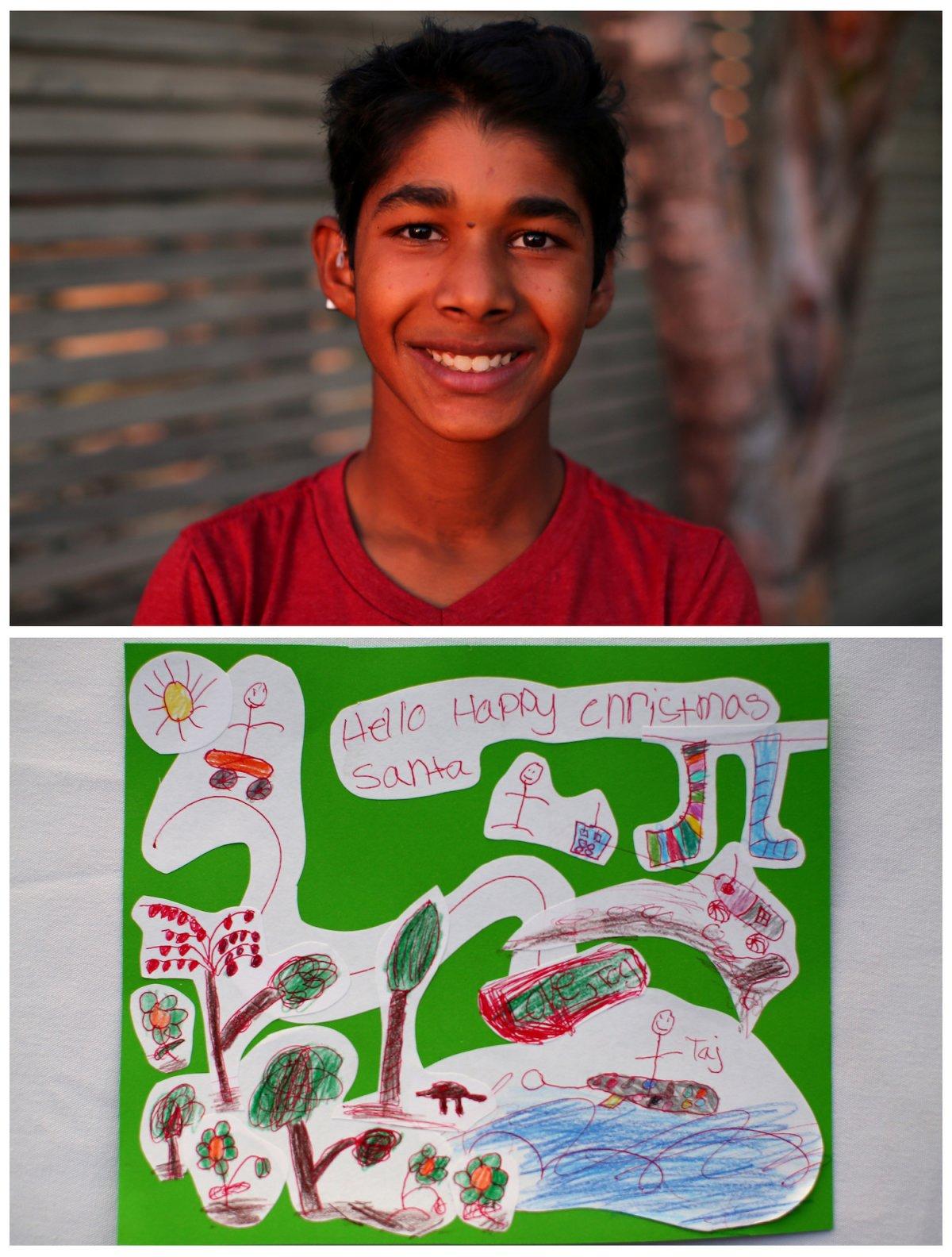 Crianças de todo o mundo desenham fotos do que querem para o Natal 08