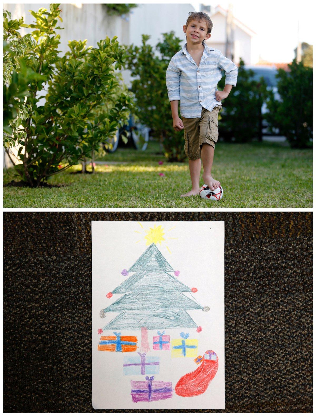 Crianças de todo o mundo desenham fotos do que querem para o Natal 33