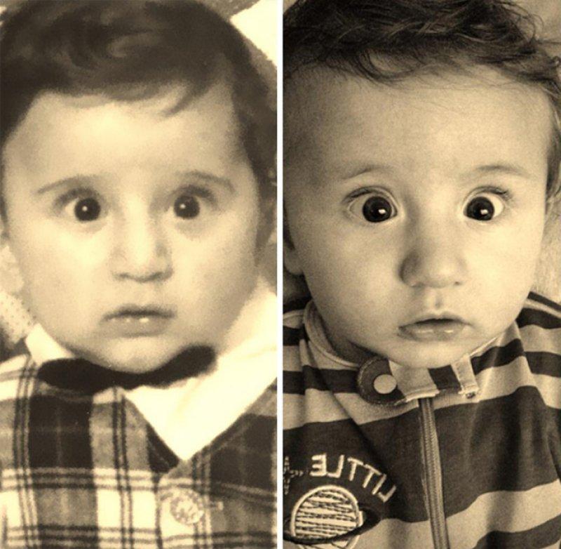 35 fotos de pais e filhos que demonstram que a fruta não cai longe do pé 05