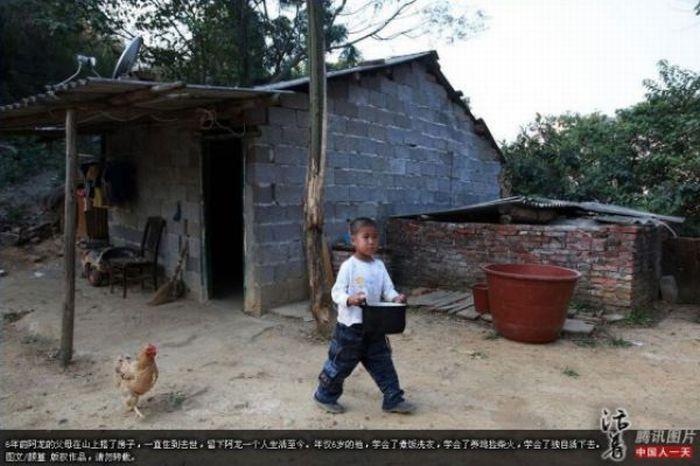 Garoto chinês de 6 anos banido pela sociedade 07