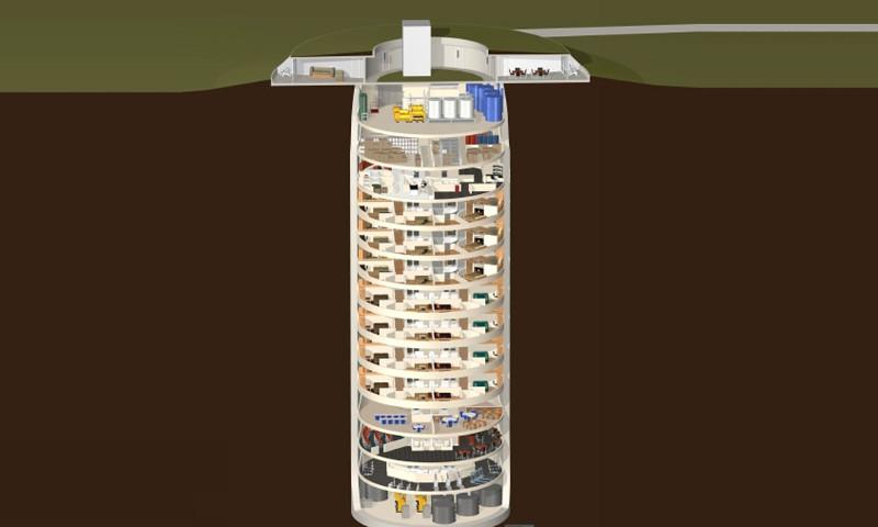 Este complexo subterrâneo de apartamentos de luxo é o refúgio para milionários obcecados com o fim do mundo 05