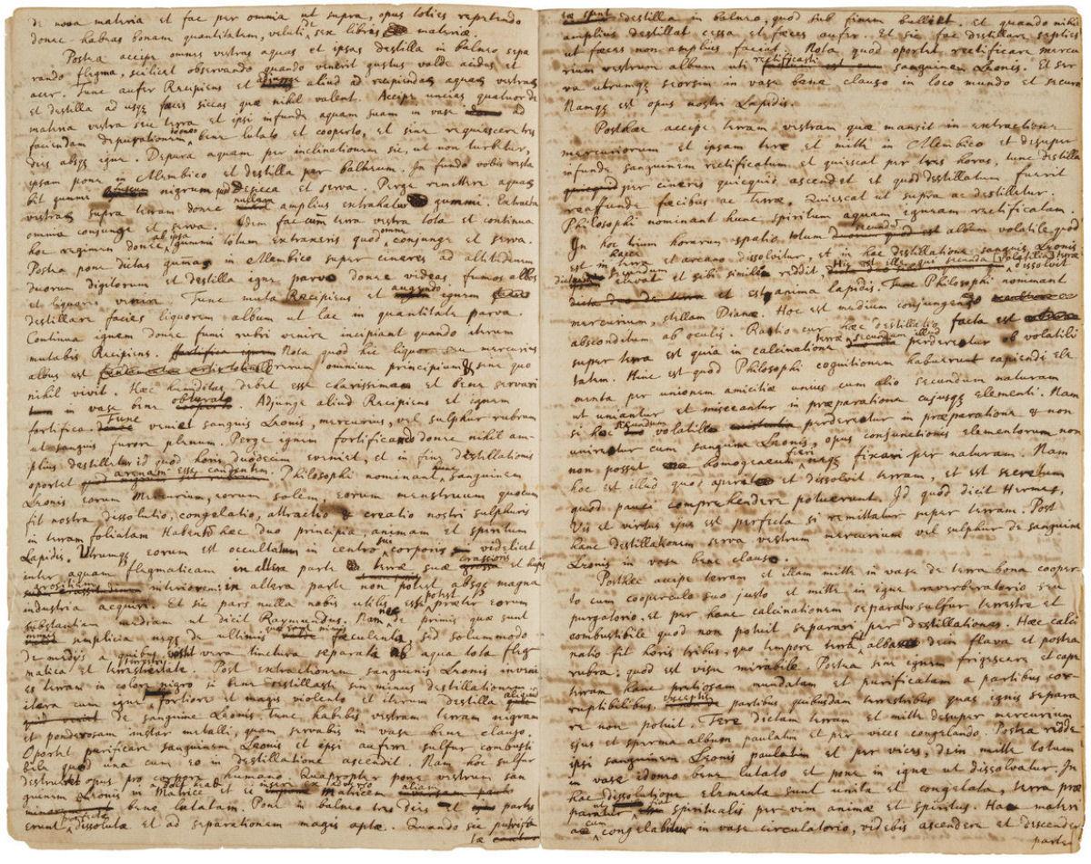 Alguém pagou 900 mil reais por um manual para criar a pedra filosofal escrito por Isaac Newton