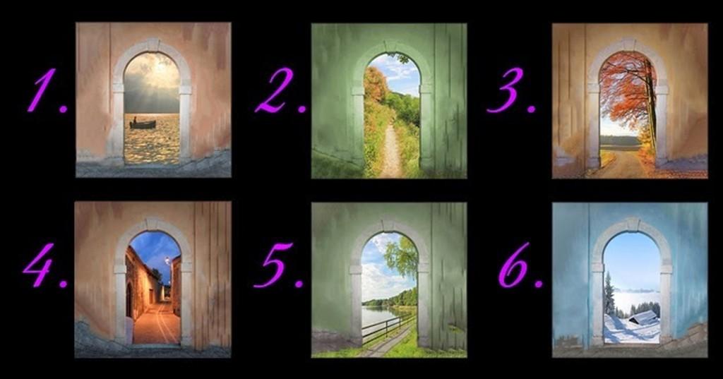Escolha a porta que lhe agrada mais. A escolhida pode revelar muito sobre você