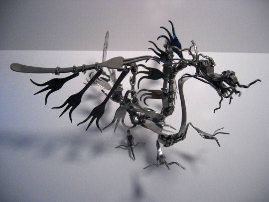 Arte com garfos