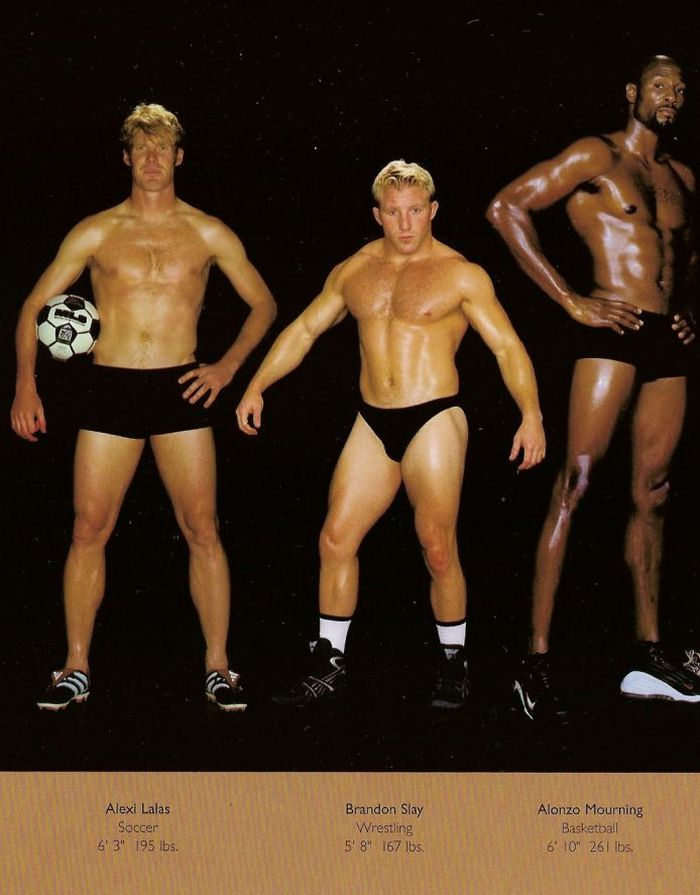 Diferentes esportes supõem diferentes tipos de corpos 01