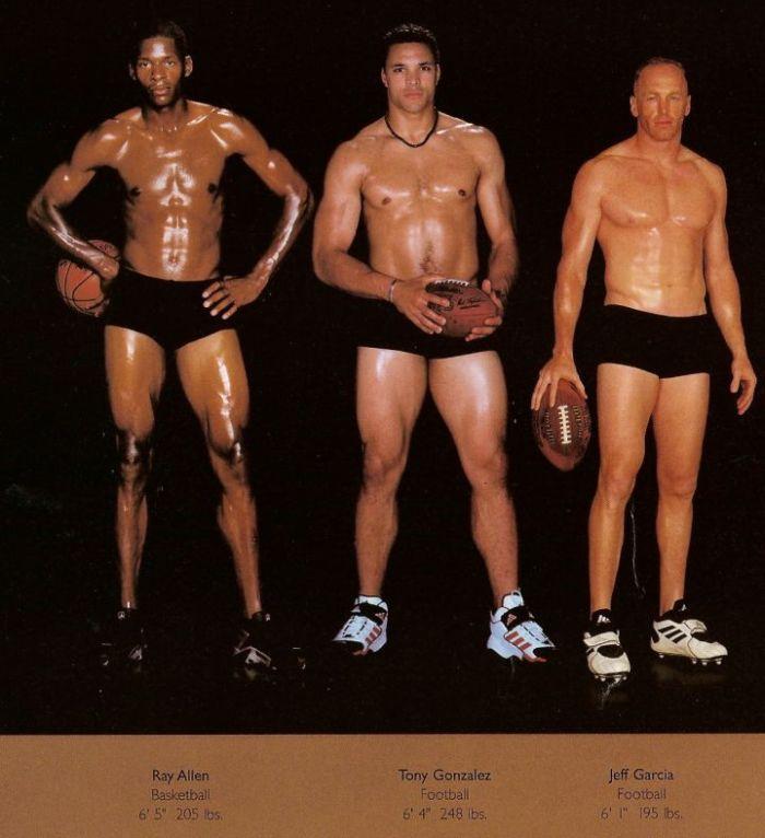 Diferentes esportes supõem diferentes tipos de corpos 07