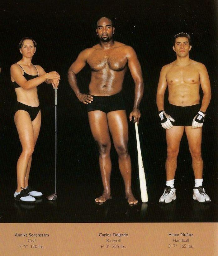 Diferentes esportes supõem diferentes tipos de corpos 10