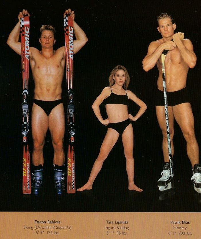 Diferentes esportes supõem diferentes tipos de corpos 11