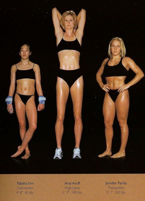 Diferentes esportes supõem diferentes tipos de corpos 13