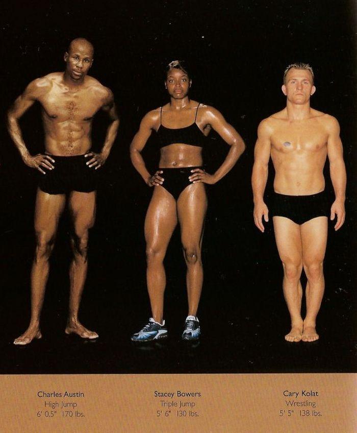 Diferentes esportes supõem diferentes tipos de corpos 14